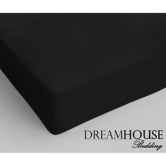 """Dreamhouse """"2 halen = 1 betalen"""" Hoeslaken Dreamhouse - Katoen - Zwart"""
