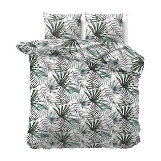 "Sleeptime ""2 halen = 1 betalen"" Dekbedovertrek Green Botanical Flanel"
