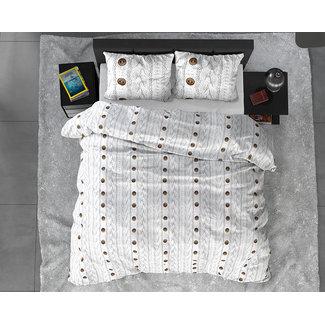"""Sleeptime """"2 halen = 1 betalen"""" Dekbedovertrek Knit Buttons Flanel"""