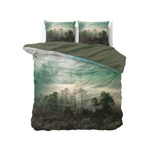 "Dreamhouse ""2 halen = 1 betalen"" Dekbedovertrek Nature Forest Green - Katoen"