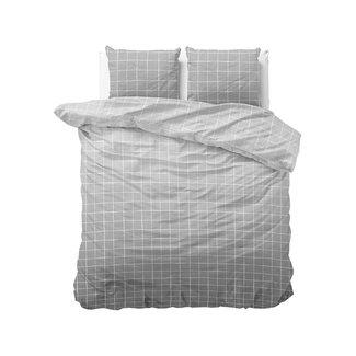 "Sleeptime ""2 halen = 1 betalen"" Dekbedovertrek Royal Block Grey - Katoen Blended"