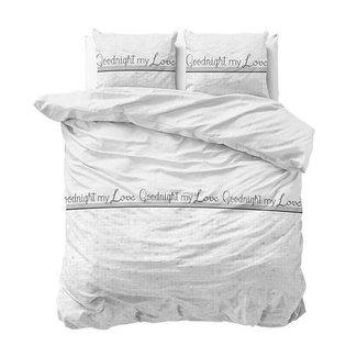"""Sleeptime """"2 halen = 1 betalen"""" Dekbedovertrek Goodnight my love White - Katoen Blended"""