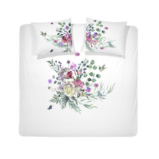 Cinderella Dekbedovertrek Cinderella Abbey flowers white- Katoen