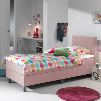 Dreamhouse Boxspring Mila Roze 1-persoons ( 90x200 cm)