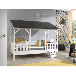 Vipack Housebed Terra - zwart dak