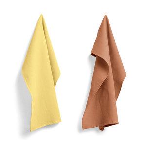 HAY HAY set 2 tea towels Waffle yellow & terracotta