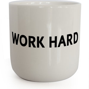 PLTY PLTY mug  Work Hard