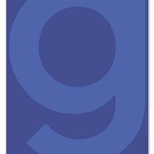 PLTY PLTY poster G blue