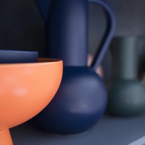 raawii Raawii vase Strøm large dark blue