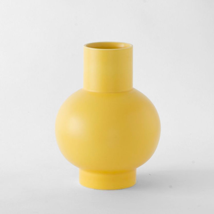 raawii Raawii vase Strøm extra large yellow
