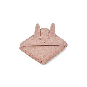 Liewood Hooded Towel Rabbit pink
