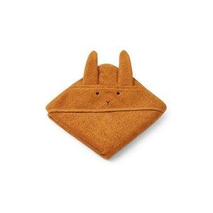 Liewood Hooded Towel Albert Rabbit mustard