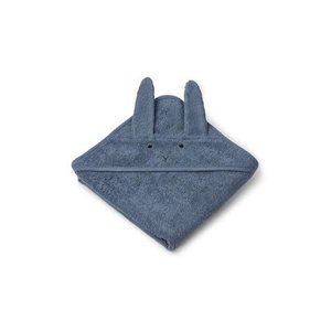 Liewood Hooded Towel Rabbit blue wave