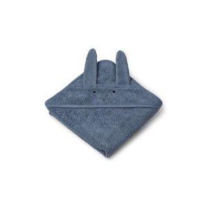 Liewood LW bath cape Albert Rabbit blue wave