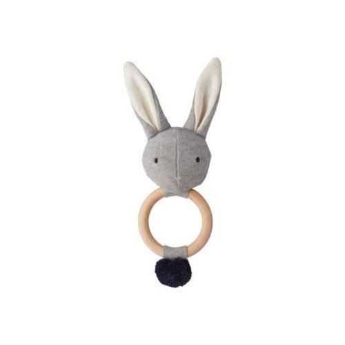 Liewood Rattle Rabbit grey