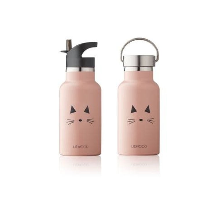 Liewood Water Bottle Cat pink