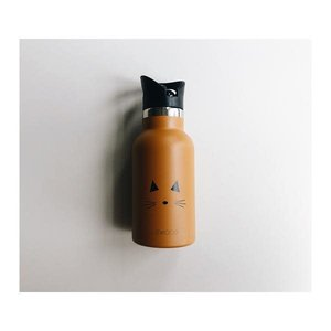 Liewood Water Bottle Cat mustard