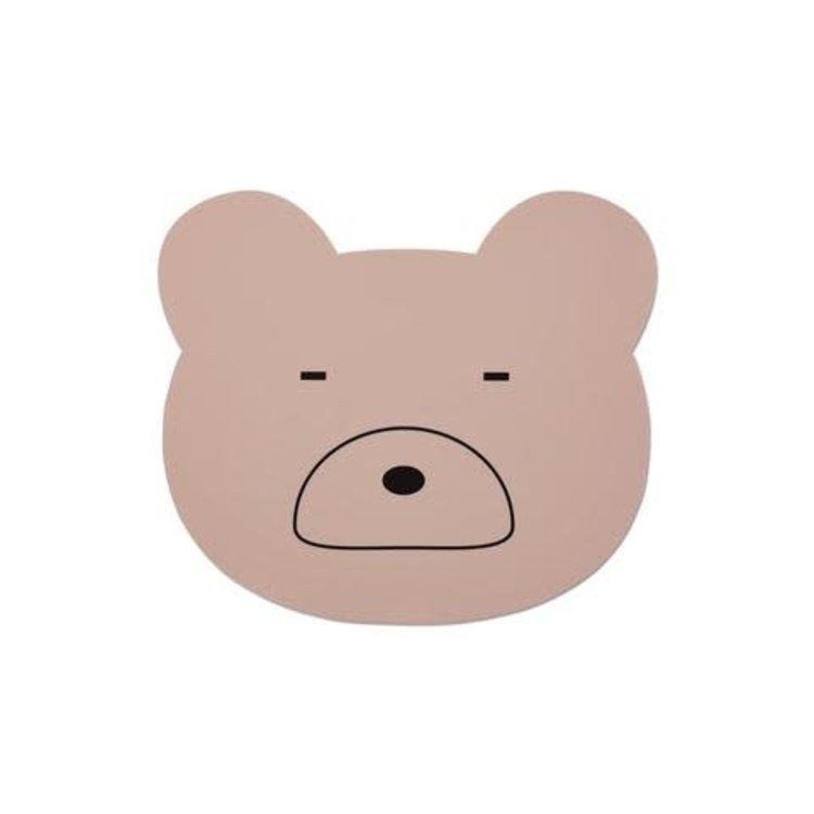 Liewood Placemat - Mr bear pink