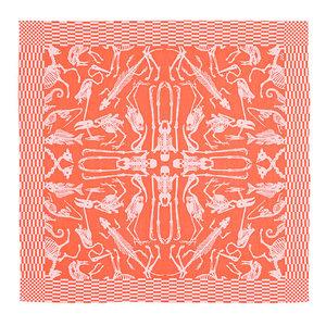 Textielmuseum Theedoek JOB perished oranje