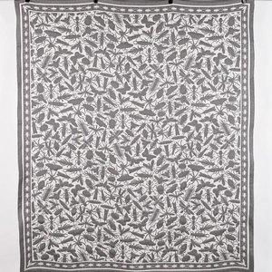 Textielmuseum Plaid JOB insects grijs