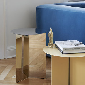 HAY HAY side table Slit round yellow