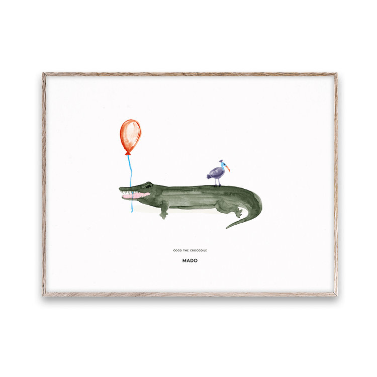 Paper Collective Mado  print Coco Crocodile