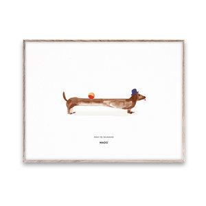 Paper Collective Mado print Doug Dachshund