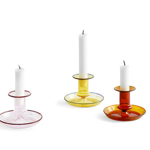 HAY HAY candle holder Flare amber