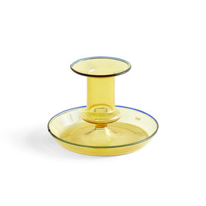 HAY Candleholder Flare low yellow