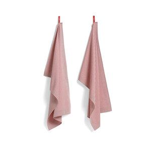 HAY HAY set 2 tea towels Check pink