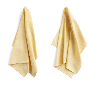 HAY HAY set 2 tea towels Check yellow