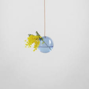 About Form And Function Flower Bubble hanging small blue