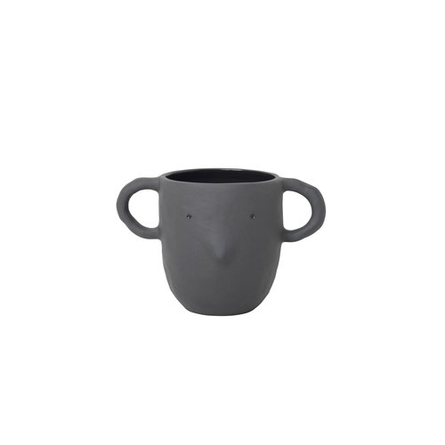 ferm LIVING Mus Plant Pot Dark Grey Large