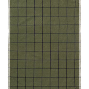 ferm LIVING Hale Tea Towel - Green/Black