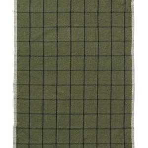 ferm LIVING Theedoek Hale groen zwart
