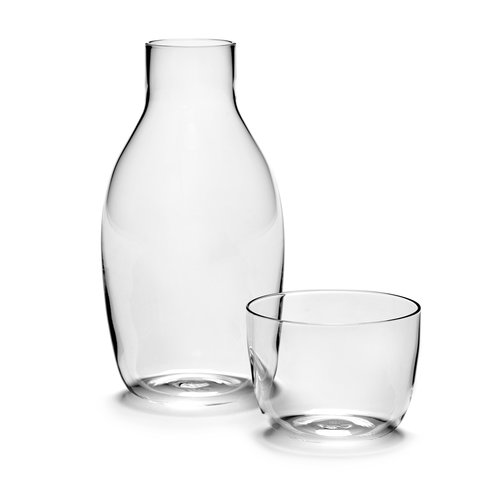 Serax carafe+ glass