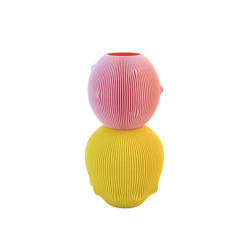 UAU project UAU vaas Sensual roze geel