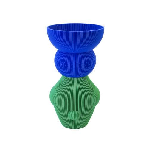 UAU project UAU vaas Sensual groen blauw