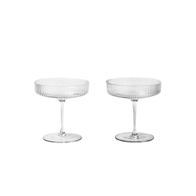 ferm LIVING Ripple Champagne Saucer (set of 2)