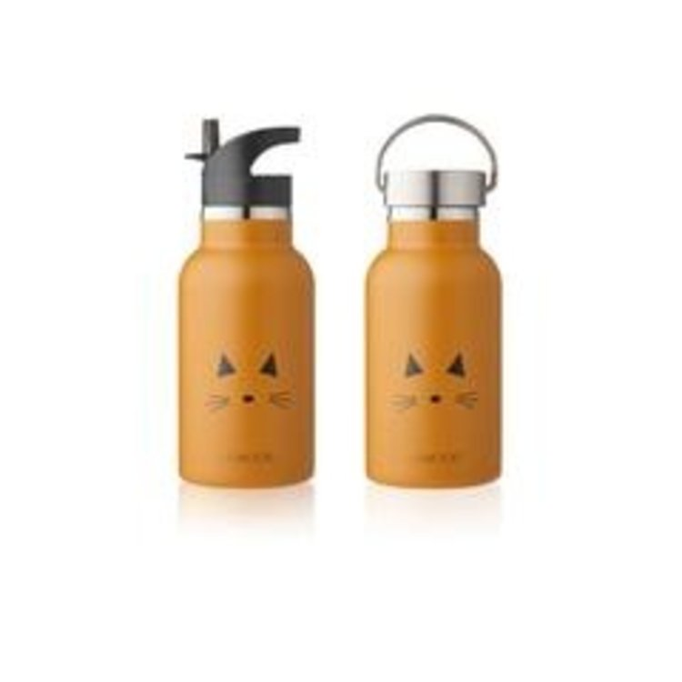 Liewood Water Bottle Cat mustard