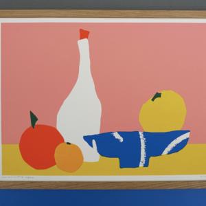 Print stilleven met fruit bowl 40x29,7