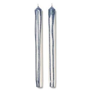 ferm LIVING Set 2 kaarsen Duo blauw