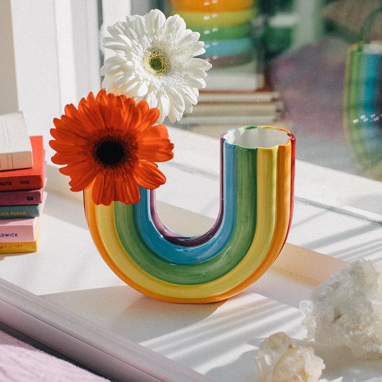 DOIY vase rainbow