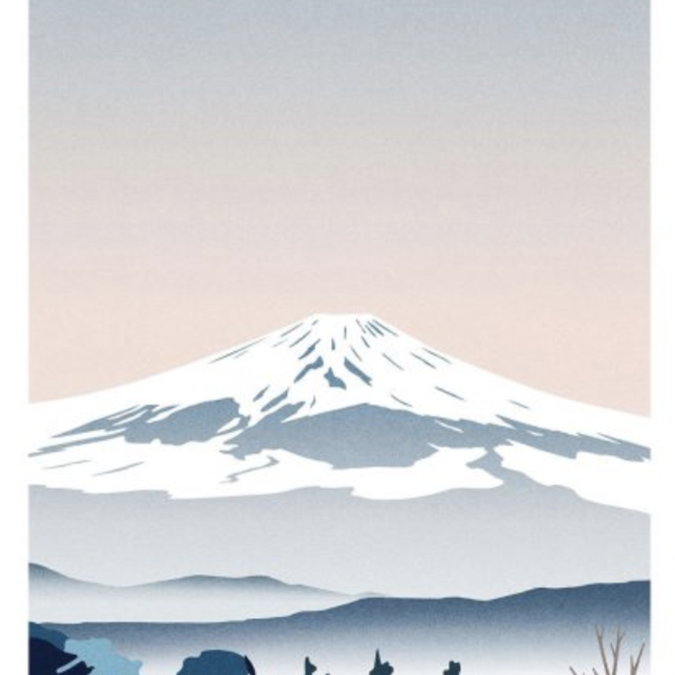 Sergeant Paper Sergeant Paper print Mont Fuji 50x70