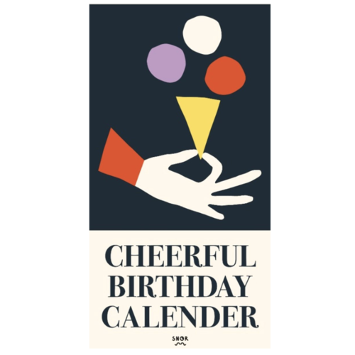 Cheerful birthday calendar