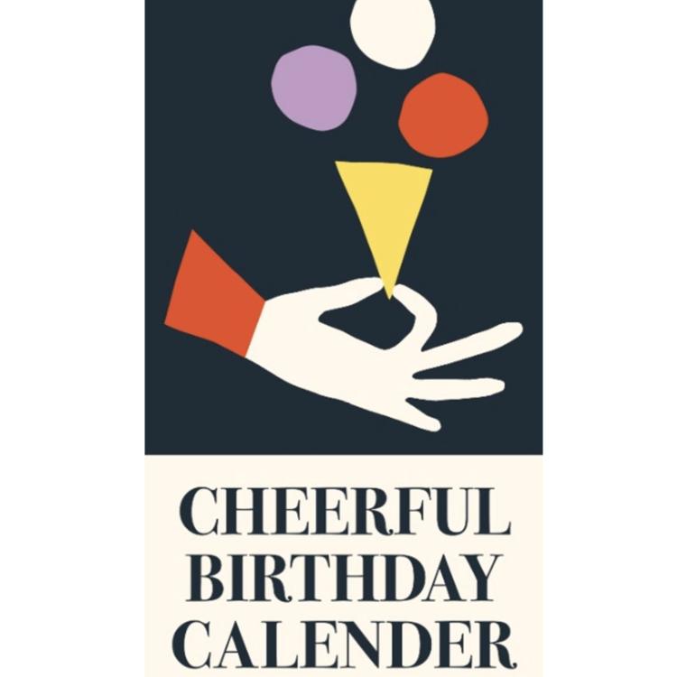 Cheerful birthday calendar