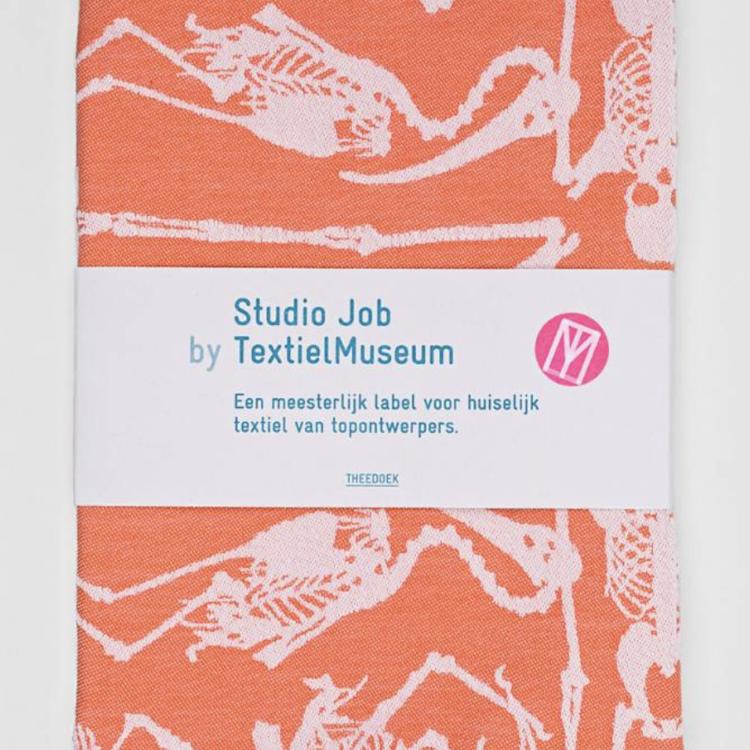 Textielmuseum Studio Job tea towel Perished orange
