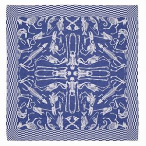 Textielmuseum Studio Job theedoek Perished blauw