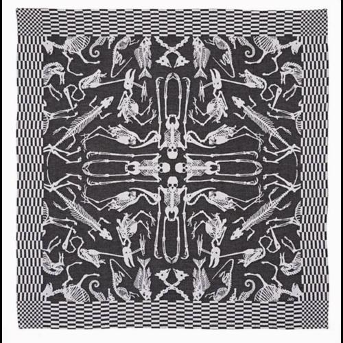 Textielmuseum Studio Job theedoek Perished zwart