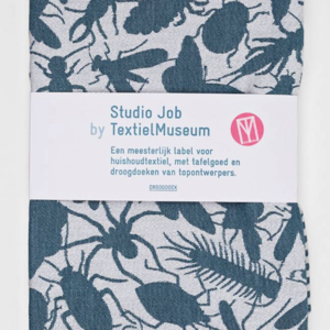 Textielmuseum Studio Job theedoek Insects blauw